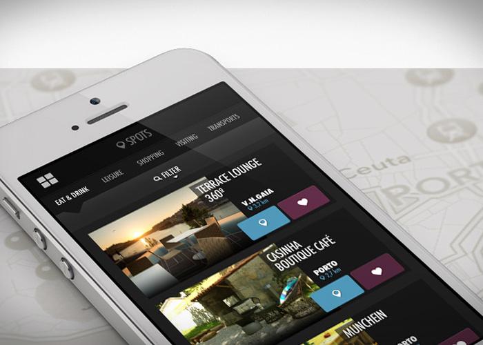 Aplicação móvel Oportoinsight