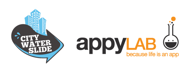 City Water Slide escorrega com Appylab