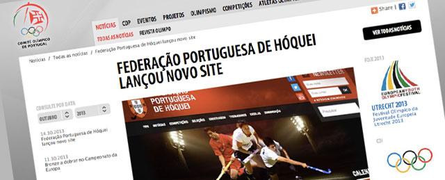 Solução de Webdesign da FPH em Destaque no Comité Olímpico