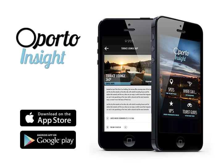 aplicação móvel Oportoinsight. A app dos segredos do Porto, desenvolvida pela agência Appylab