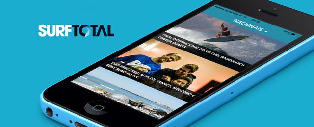 Aplicativo Móvel Surf Total. Notícias de Surf no seu bolso